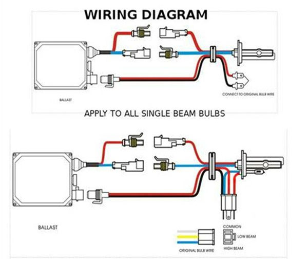 Wiring Diagram Hid Driving Lights : H k pure white w slim ac ballast hid conversion