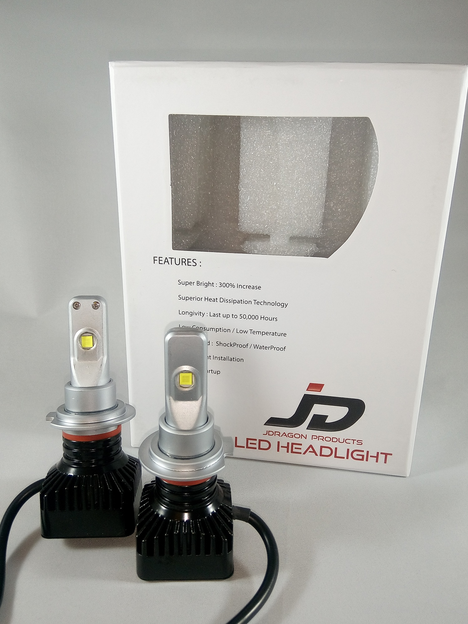 Home LED Light Bulbs JDragon HB4 9006 Headlight Conversion Kit 80W 8000LM 6000k White