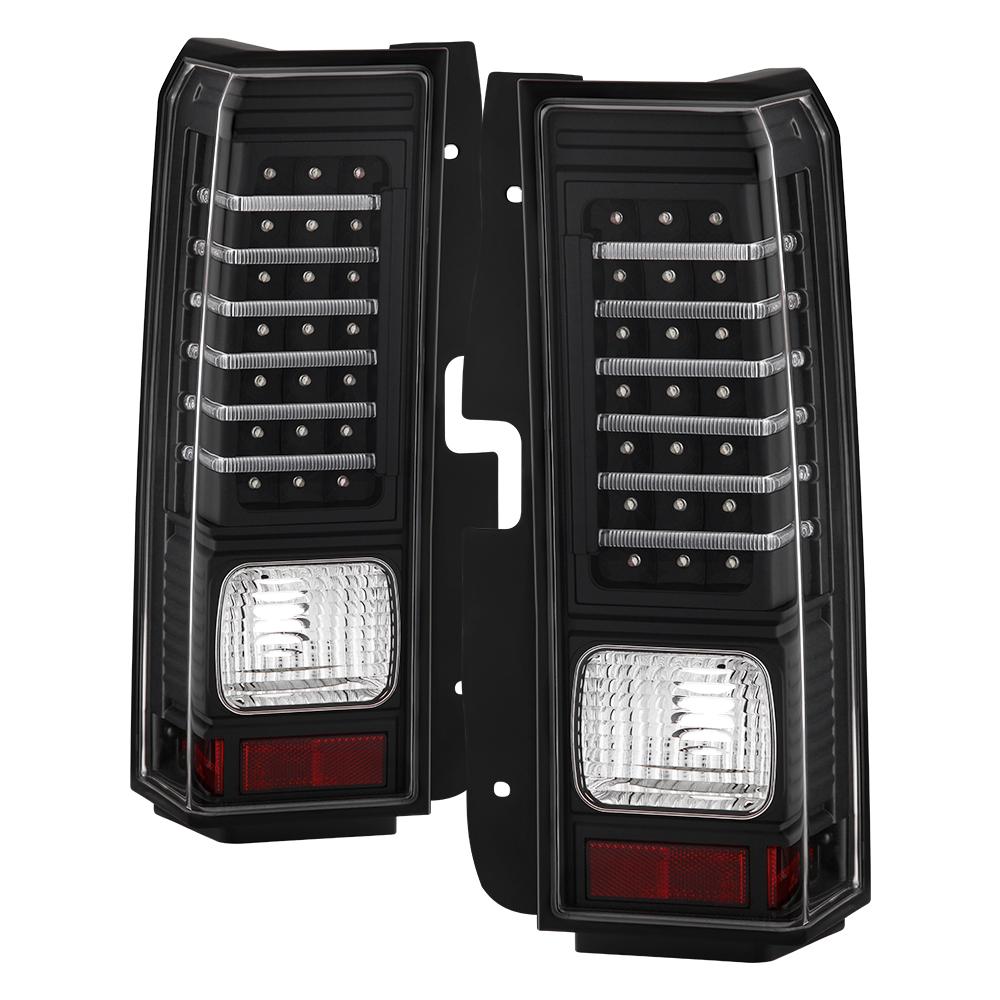 hummer h3 06 09 black led rear tail brake lights left. Black Bedroom Furniture Sets. Home Design Ideas